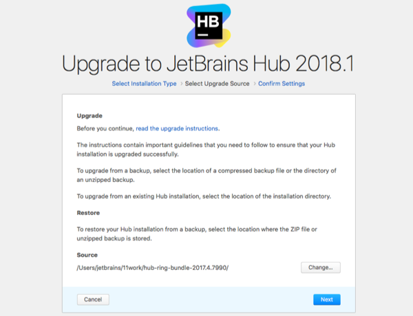 hub zip upgrade select source