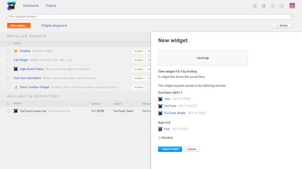 new custom widget details