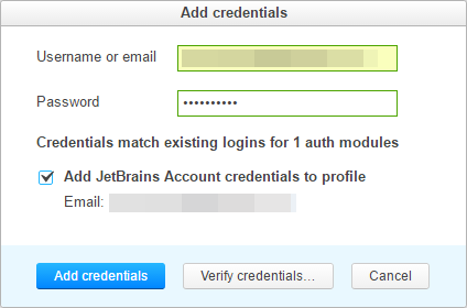 addCredentialsMatch