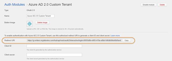 azure auth custom tenant redirect uri