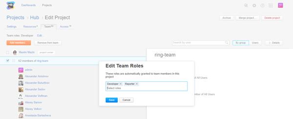edit team roles