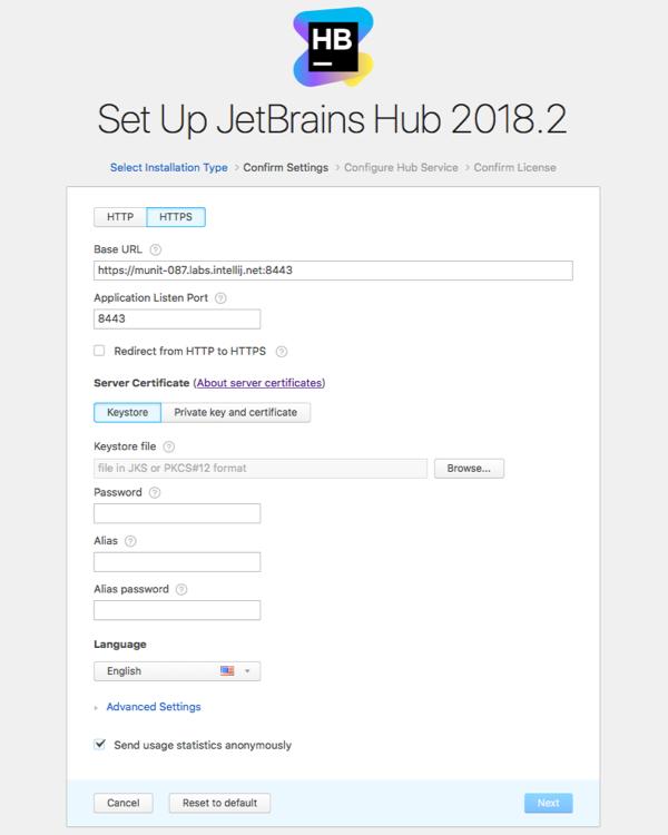 hub install settings https