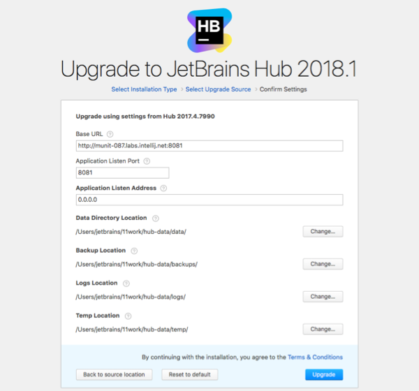 hub zip upgrade confirm