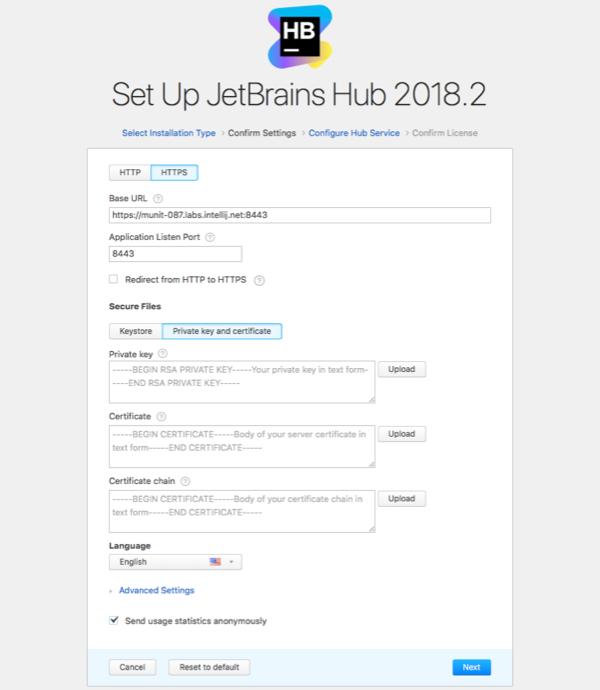 install https new cert settings