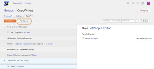 revoke role group