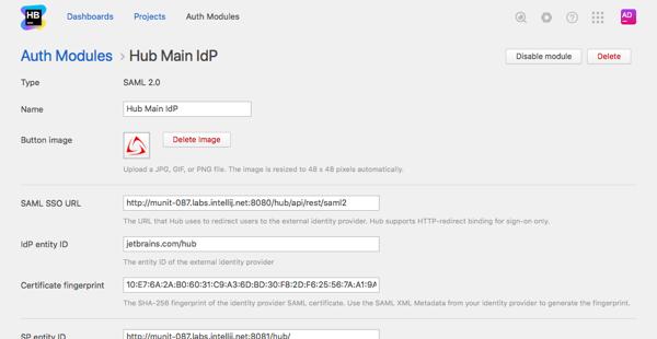 saml hub hub module created