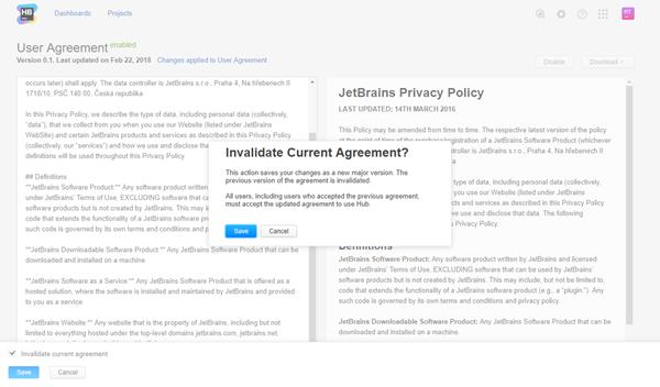user agreement invalidate