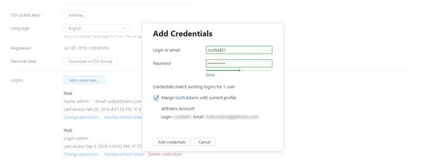 Add credentials match