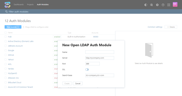 New open ldap auth module