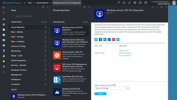 Azure new hub vm