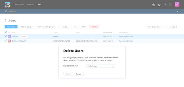 Delete multiple users