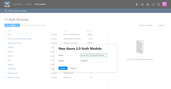 New azure auth common tenant