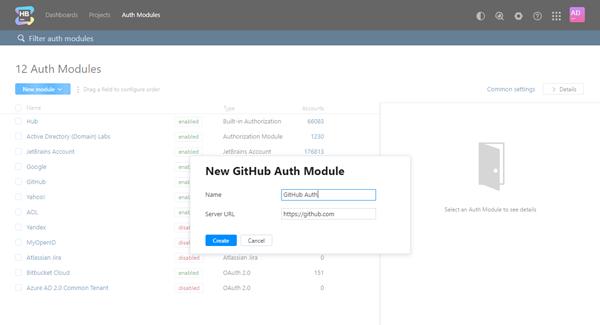 New github auth module