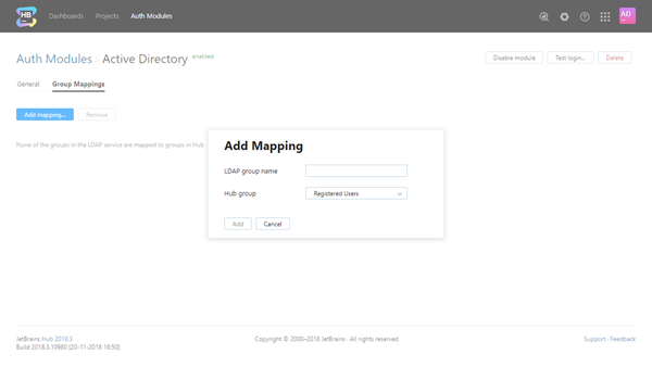 add group mapping active directory