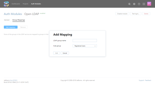 add open LDAP group mapping