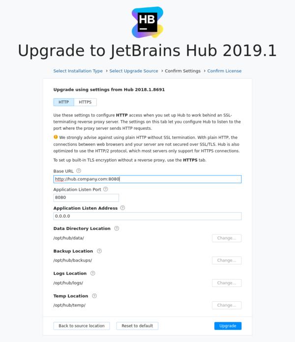 Docker upgrade backup confirm