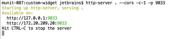 http-server starts