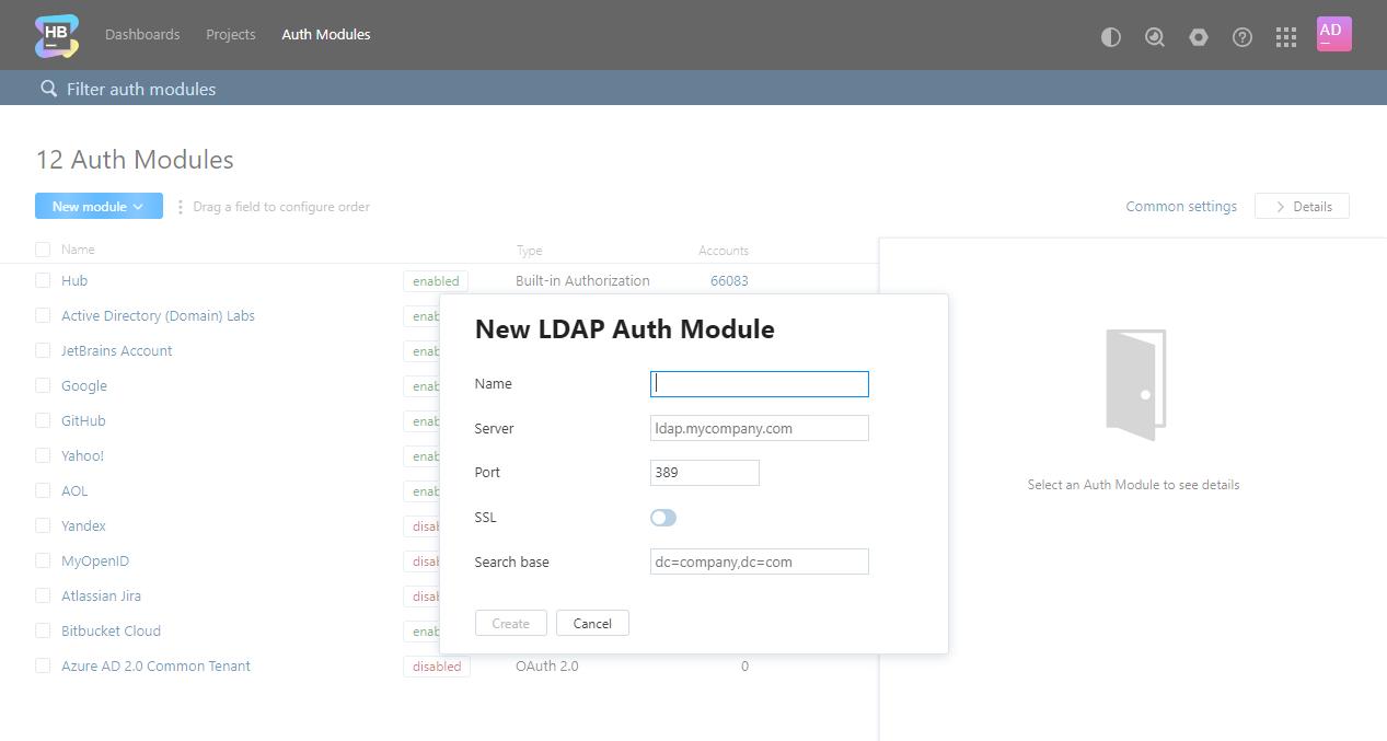 LDAP Auth Module - Help | Hub