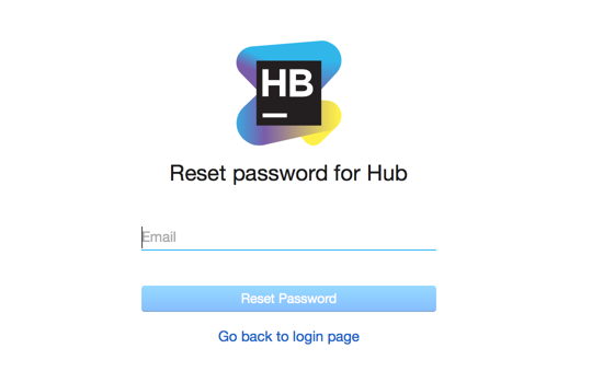 Reset user password dialog