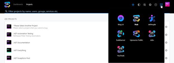 Services menu header