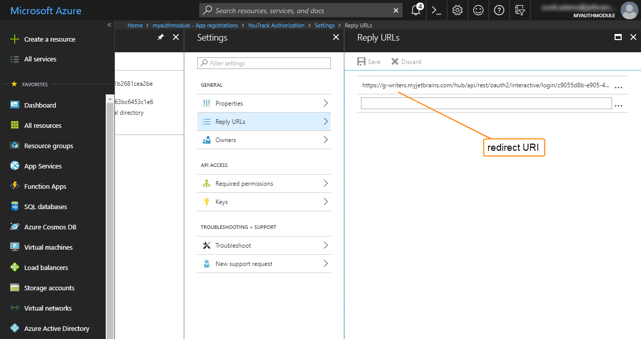Azure auth reply url