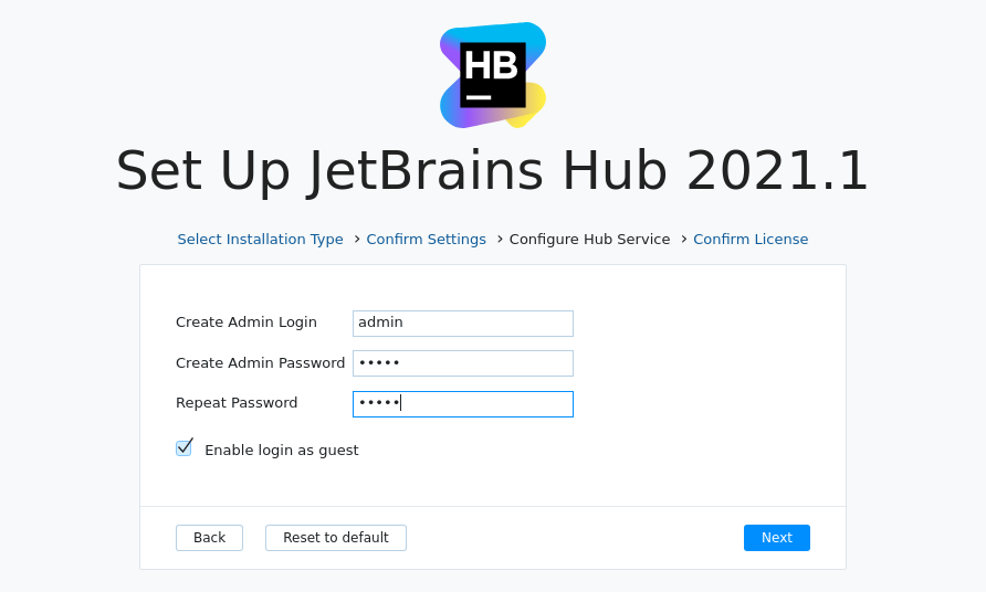 Install Hub MSI: Configure service