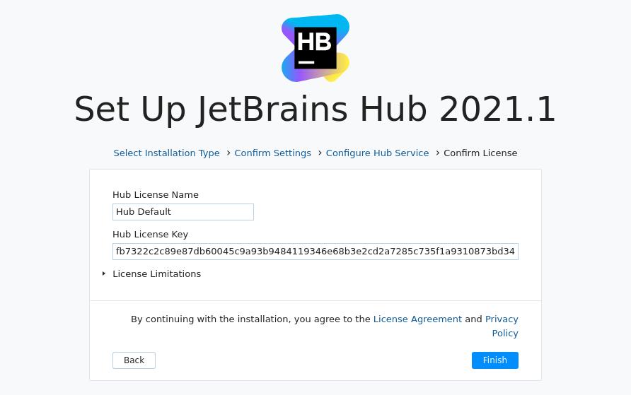 Install Hub MSI: License
