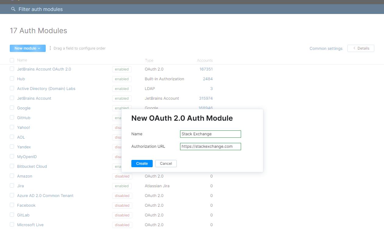 New oauth 2 0 module
