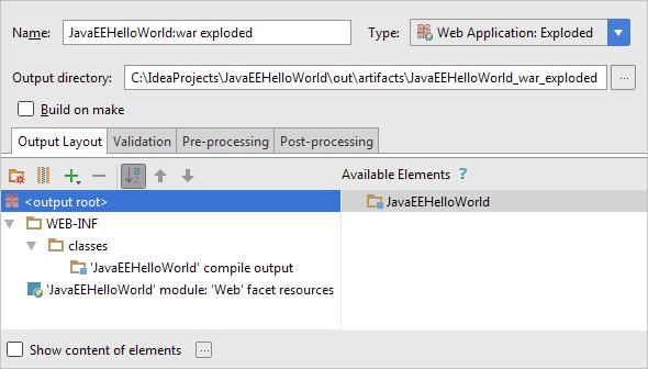HWJEE033ProjectStructureArtifactSettings