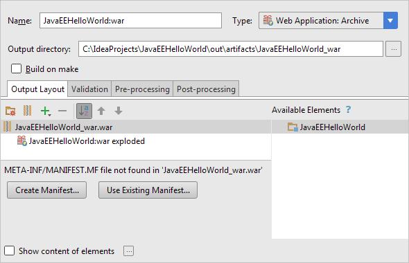 HWJEE035ProjectStructureNewArtifactSettings