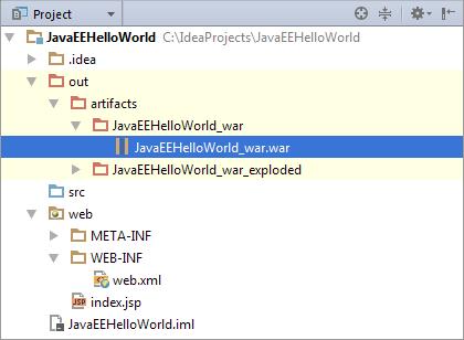 HWJEE038ArtifactInProjectToolWindow