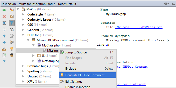 php_storm_resolving_problems