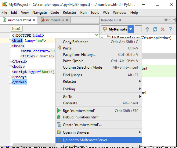 how to use run first in pycharm 2016