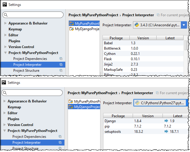 py_project_interpreters_for_different_projects