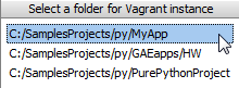 vagrant_select_folder