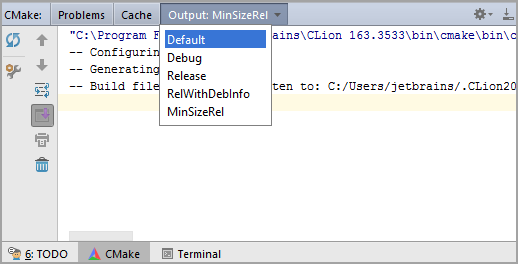 CMake_toolwindowOutput