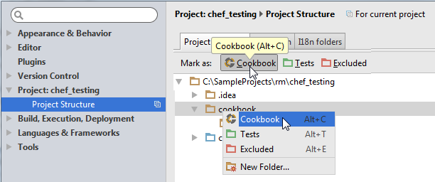 chef_mark_directory_as_project_structure