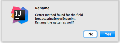 Do you want to rename the getter?