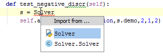 python_import1. choose imported classes