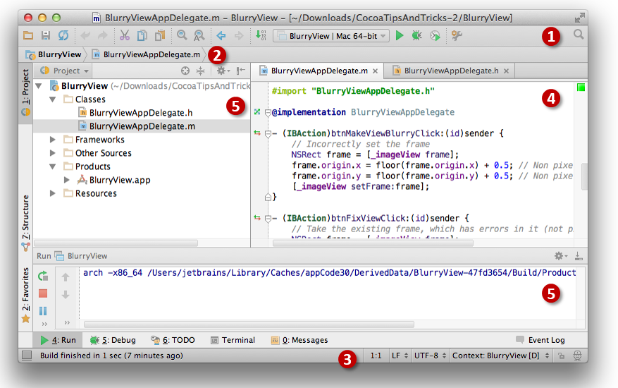 AppCOde main window