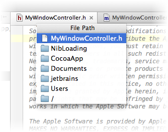 Navigating to file path