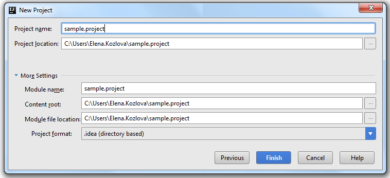 how to create a new java project in intellij
