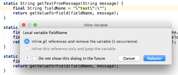 Inline unnecessary variable