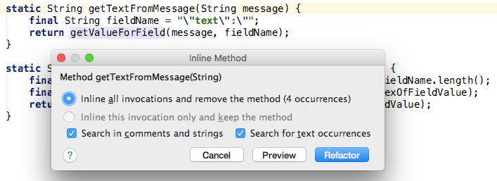 Inline unnecessary method