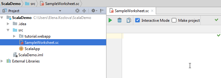IntelliJ IDEA 20171 Help Working with Scala Worksheet – Scala Worksheet