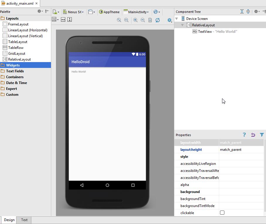 Android UI designer tutorial