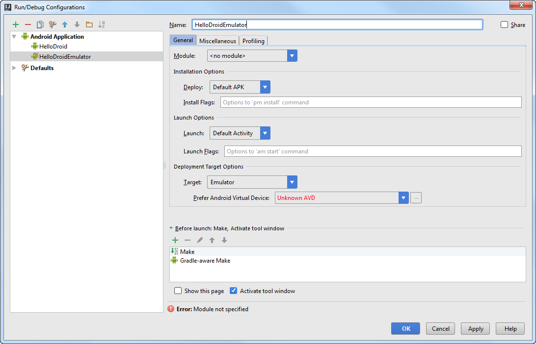 Android new build config step2