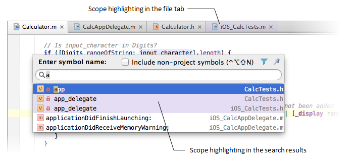 AppCodeScopeHighlighting