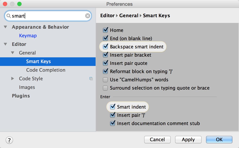 AppCode Find Settings