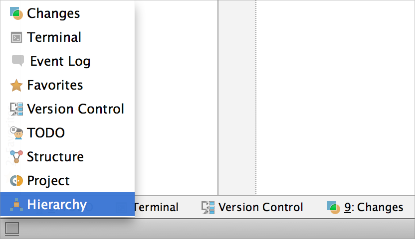 AppCode ManipulatingToolWindows 1